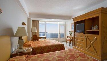 Chambre double avec vue sur la mer Hôtel Krystal Beach Acapulco Acapulco
